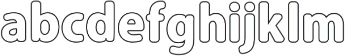 Carson Outline otf (900) Font LOWERCASE