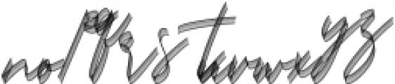 Carthart SVG Regular otf (400) Font LOWERCASE