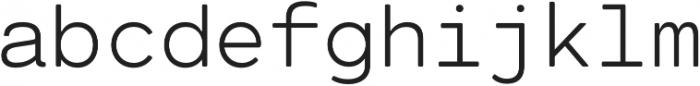Cartograph Mono CF Light otf (300) Font LOWERCASE