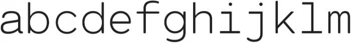 Cartograph Mono CF Thin otf (100) Font LOWERCASE