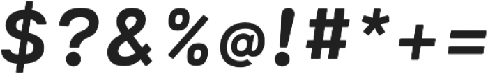 Cartograph Sans CF Bold Italic otf (700) Font OTHER CHARS