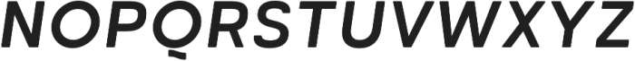 Cartograph Sans CF Bold Italic otf (700) Font UPPERCASE