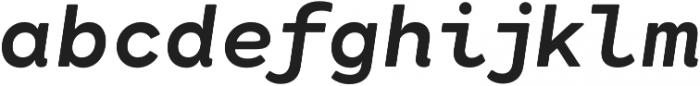 Cartograph Sans CF Bold Italic otf (700) Font LOWERCASE