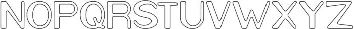 Cartoon Character-Hollow otf (400) Font UPPERCASE