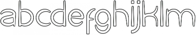 Cartoon Character-Hollow otf (400) Font LOWERCASE