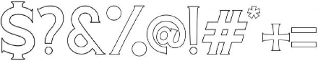Cascade-Outline otf (400) Font OTHER CHARS