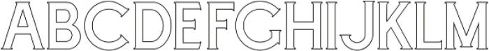 Cascade-Outline otf (400) Font LOWERCASE