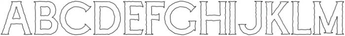 Cascade-Rough Outline otf (400) Font UPPERCASE