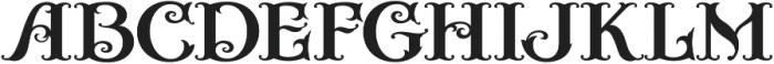 Casino Fancy otf (400) Font UPPERCASE