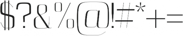 Cason Light otf (300) Font OTHER CHARS