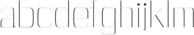 Cason Thin otf (100) Font LOWERCASE