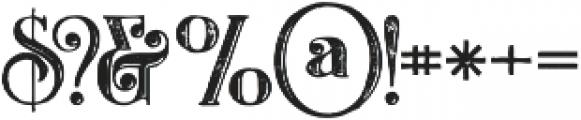 Castile Inline Grunge otf (400) Font OTHER CHARS
