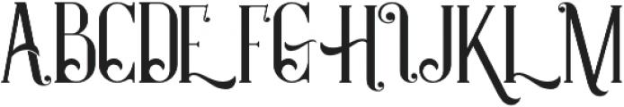 Castile Regular otf (400) Font UPPERCASE