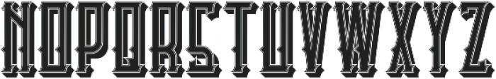 Castlecary StrokeAndShadow otf (400) Font UPPERCASE