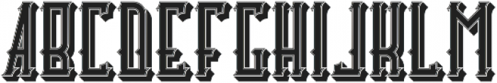 Castlecary StrokeAndShadow otf (400) Font LOWERCASE