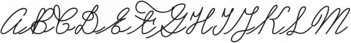 Castro Script ttf (400) Font UPPERCASE
