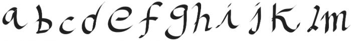 CasualHandkitten otf (400) Font LOWERCASE