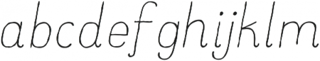 Catalina Clemente Light Italic ttf (300) Font LOWERCASE