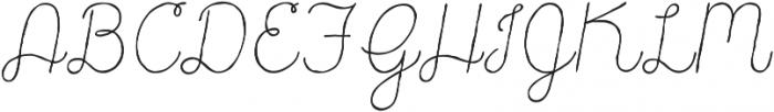 Catalina Script Light Italic ttf (300) Font UPPERCASE