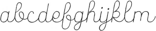 Catalina Script Light Italic ttf (300) Font LOWERCASE
