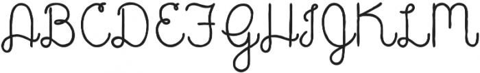 Catalina Script otf (400) Font UPPERCASE