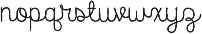 Catalina Script otf (400) Font LOWERCASE