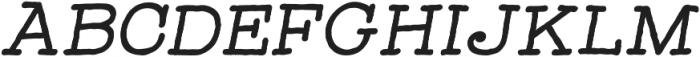 Catalina Typewriter Bold Italic ttf (700) Font UPPERCASE