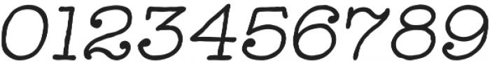 Catalina Typewriter Italic otf (400) Font OTHER CHARS