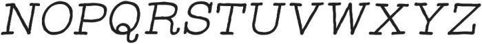 Catalina Typewriter Italic otf (400) Font UPPERCASE