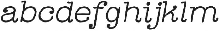 Catalina Typewriter Italic otf (400) Font LOWERCASE