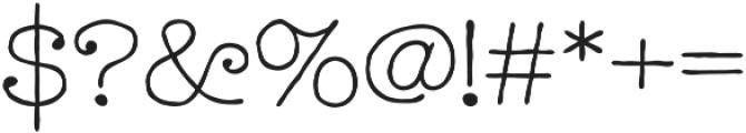 Catalina Typewriter Light otf (300) Font OTHER CHARS