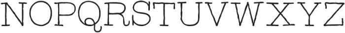 Catalina Typewriter Light ttf (300) Font UPPERCASE