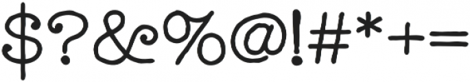 Catalina Typewriter Regular otf (400) Font OTHER CHARS