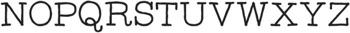 Catalina Typewriter otf (400) Font UPPERCASE