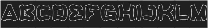 Catalyst-Hollow-Inverse otf (400) Font UPPERCASE