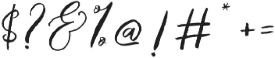 Catandra Brush Script Regular otf (400) Font OTHER CHARS