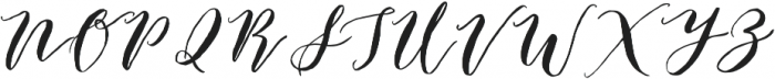 Catandra Brush Script Regular otf (400) Font UPPERCASE