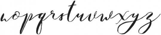 Catandra Brush Script Regular otf (400) Font LOWERCASE