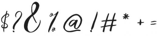 Catandra Script Regular otf (400) Font OTHER CHARS