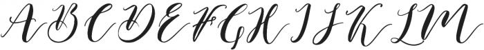 Catandra Script Regular otf (400) Font UPPERCASE