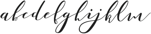 Catandra Script Regular otf (400) Font LOWERCASE