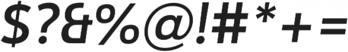 Catesque Medium Italic otf (500) Font OTHER CHARS