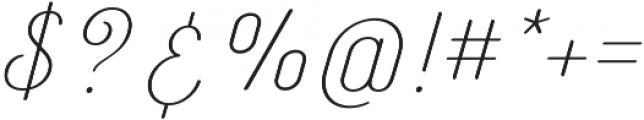 Catfish Light otf (300) Font OTHER CHARS