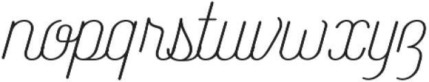Catfish Light otf (300) Font LOWERCASE