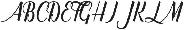 Catfish Script Regular otf (400) Font UPPERCASE