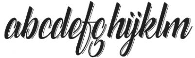 Catfish line Script Regular otf (400) Font LOWERCASE