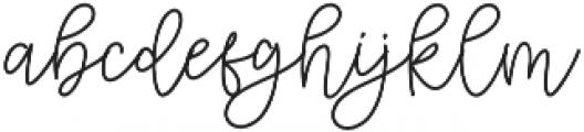 Cattoms cute Regular otf (400) Font LOWERCASE