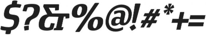Cavole Slab Bold Italic otf (700) Font OTHER CHARS
