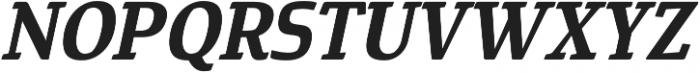 Cavole Slab Bold Italic otf (700) Font UPPERCASE