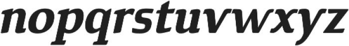 Cavole Slab Bold Italic otf (700) Font LOWERCASE